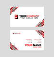 horizontal name card with bl logo letter and vector image vector image
