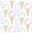 Ice cream seamless pattern Summer vector image