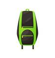 kids schoolbag isolated icon student backpack vector image vector image