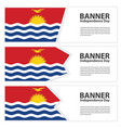 kiribati flag banners collection independence day vector image vector image