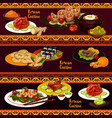 korean cuisine banners with food and desserts vector image vector image