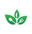 leaf restaurant eco vector image vector image