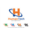 letter h logo template design vector image