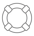 lifebuoy thin line icon sos and lifeguard vector image vector image