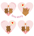 lovestory cats vector image vector image