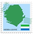 mail to-from Sierra Leone vector image