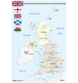 map countries united kingdom vector image vector image