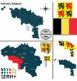 map of hainaut belgium vector image