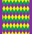 mardi gras abstract geometric pattern purple vector image vector image