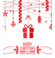 merry christmas and happy new year bright postcard vector image vector image