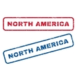North America Rubber Stamps vector image vector image