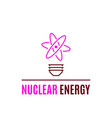 nuclear energy logo template flat style icon vector image vector image