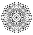 ornamental filigree mandala vector image vector image