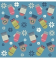 Pattern with colorful mittens vector image