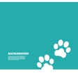 Paw sign icon Dog pets steps symbol vector image vector image