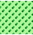 Polka dot green double seamless pattern vector image