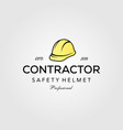 professional contractor safety helmet vintage vector image