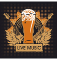 pub with live music vector image vector image
