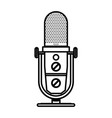 radio microphone retro isolated icon vector image vector image