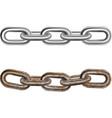Realistic Steel Chains 2 Pieces Set vector image vector image