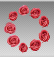 rose on a transparent background vector image vector image
