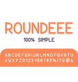 round brush sans serif font hand drawn artistic vector image vector image