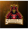samurai warrior mascot logo design vector image