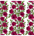 seamless garlands with red peony flowers and green vector image vector image
