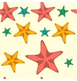 Seamless pattern with cartoon starfishes vector image vector image