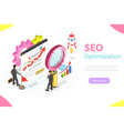 seo flat isometric concept vector image vector image