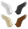set color wings vector image vector image