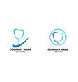 set dental implant logo design element vector image vector image