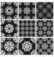 Set geometric abstract Seamless pattern vector image vector image