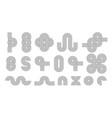 set line art elements optical illusion shapes vector image vector image