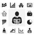 set of 12 editable statistic icons includes vector image