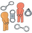 set of handcuff vector image