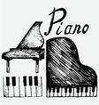 Set piano vector image