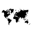 silhouette black map world vector image