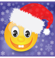 smile in a Christmas hat vector image vector image