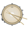 snare drum realistic vector image