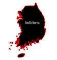 south korea silhouette vector image