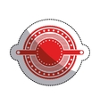 sticker red circular art deco emblem with stars vector image vector image