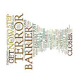 terror barrier mhm mental health matters text vector image vector image