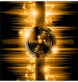 the art disco flyer - stunning speakers vector image