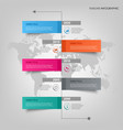 time line info graphic with colorful design vector image vector image