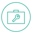 Toolbox line icon vector image vector image