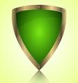 Triumph green shield symbol icon vector image