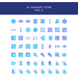 ui gadget icon set vol 2 vector image vector image