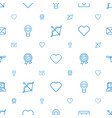 valentine icons pattern seamless white background vector image vector image