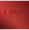 Valentines Day red paper Word Love for Your Design vector image vector image